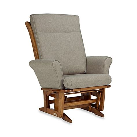 Dutailier 174 Transitional Grand Wood Glider And Ottoman In Dutailier Grand Glider And Ottoman