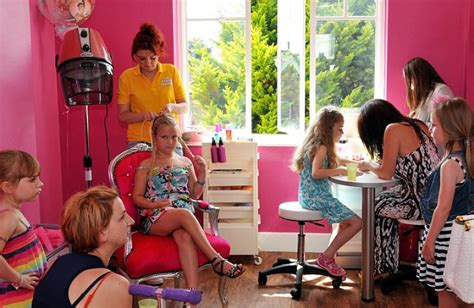 boy are taken to beauty salon for girly hair and makeup trendy monkeys essex beauty salon s make overs and spray