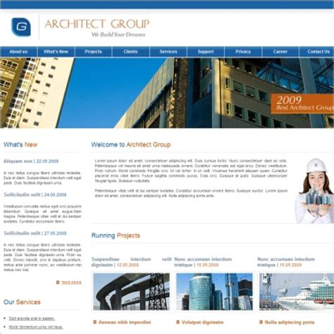 Website Templates For Group Of Companies | architect group template free website templates in css