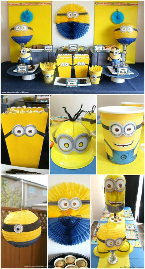 birthday themes minions minions birthday party ideas moms munchkins