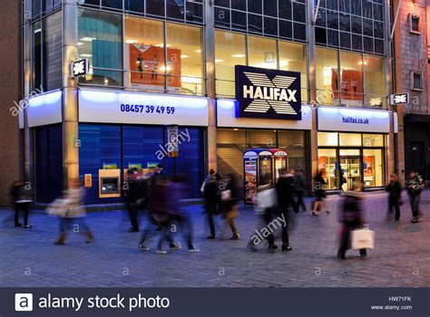 halifax bank liverpool halifax bank branch in paradise liverpool stock