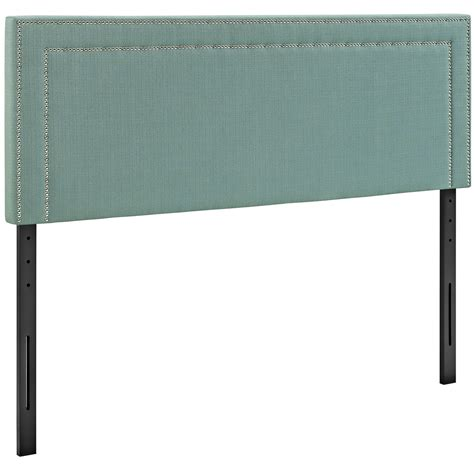 headboard squares jessamine king fabric square headboard with double nailhead trim laguna