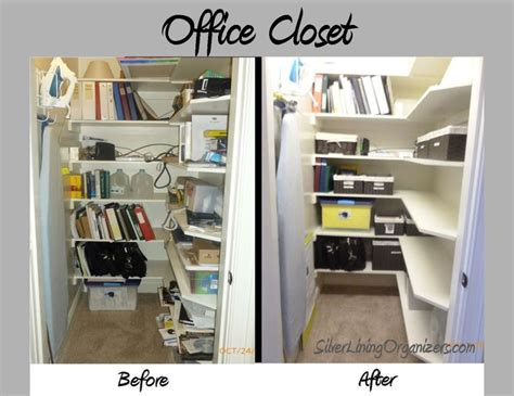 organize office closet office supply closet before after photos