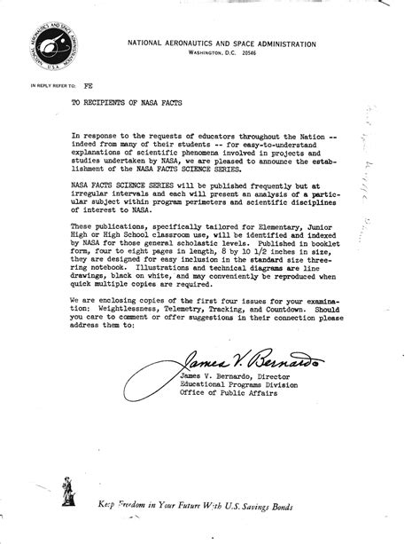 File:NASA FACTS cover letter James V Bernardo   Wikipedia