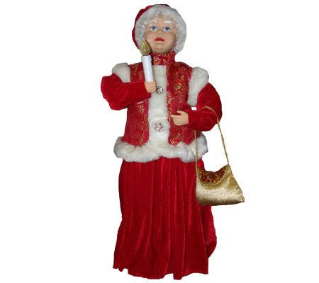 30 quot animated traditional mrs claus with candleby sterling