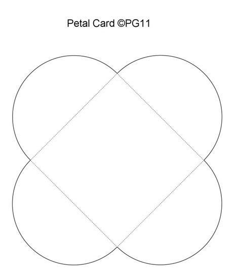 petal card template 79 best paper craft templates by pam images on