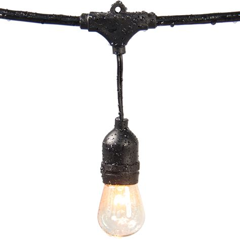 Commercial Patio Lights Commercial Weatherproof 48 Outdoor String Lights 16 Bulbs Patio Lights