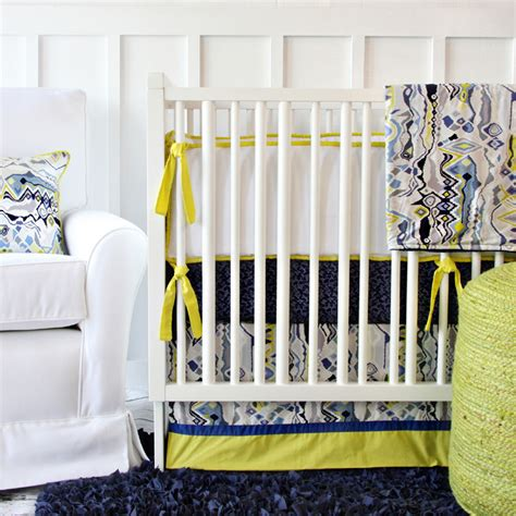 caden lane crib bedding ikat citrus boy crib bedding set by caden lane