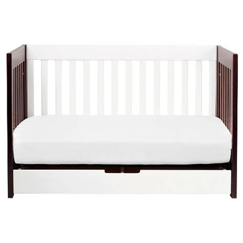 Two Tone Cribs White Espresso by Babyletto Mercer 3 In 1 Convertible Crib With Toddler Rail
