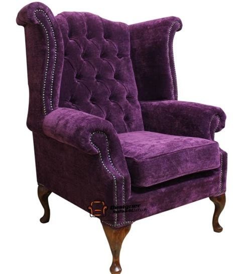 chesterfield wing armchair best 20 purple fabric ideas on pinterest the purple