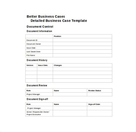 business case template 12 free word pdf documents