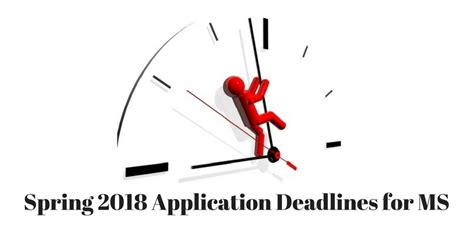 Mba Deadlines For 2018 by 2018 Application Deadlines For Ms In Us Average