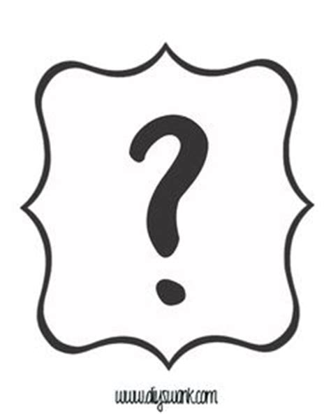 free printable question mark stencil question mark pattern use the printable outline for