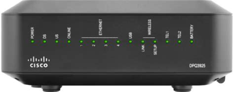 Cisco Modem Lights by Cisco Dpq3925 Doscis 3 0 Voip Modem W Built In Wireless