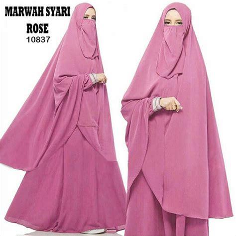 9189 Hanifah Syari Hitam Murah by Baju Gamis Polos Syar I 2018 Marwah Model Gamis Terbaru