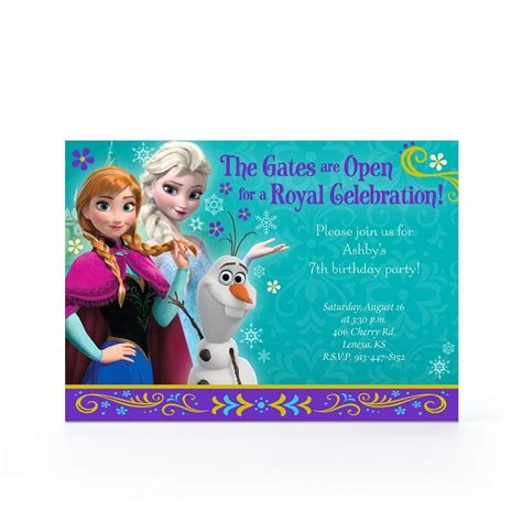 Frozen Birthday Cards Frozen Greeeting Card Party Invitations Ideas