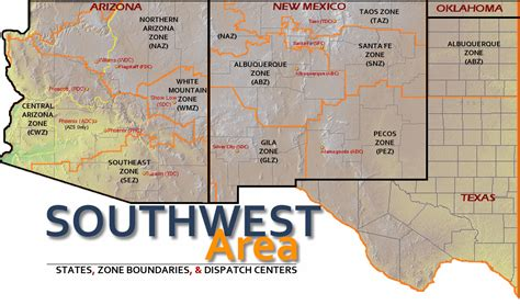map us southwest interagency coordination centers the radioreference wiki