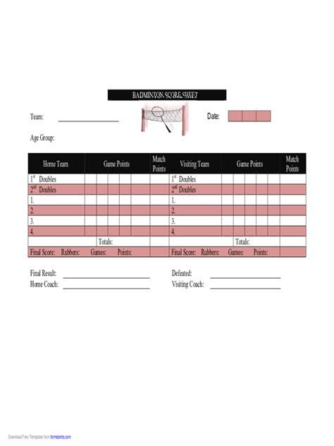 score sheets   templates   word excel