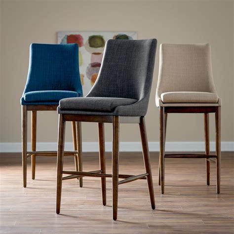 mid century counter chairs belham living mid century modern upholstered bar