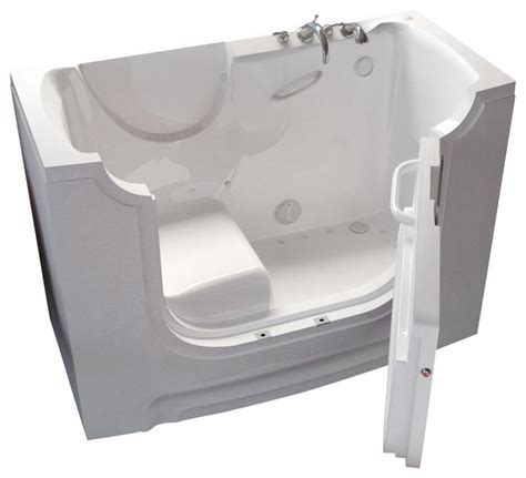 wheelchair accessible bathtubs meditub 30x60 right drain white air jetted wheelchair