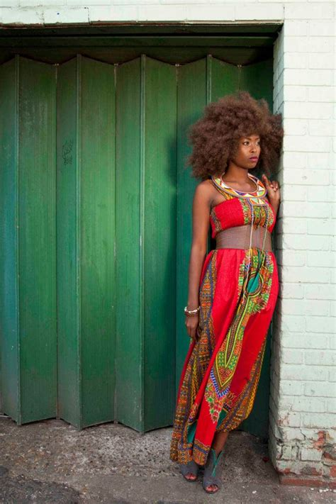 african bohemian style african dashiki print maxi dress s m red modern african