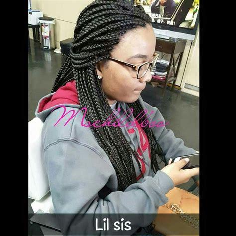 braids sissy lil sissy individual braids watch me work hair salon