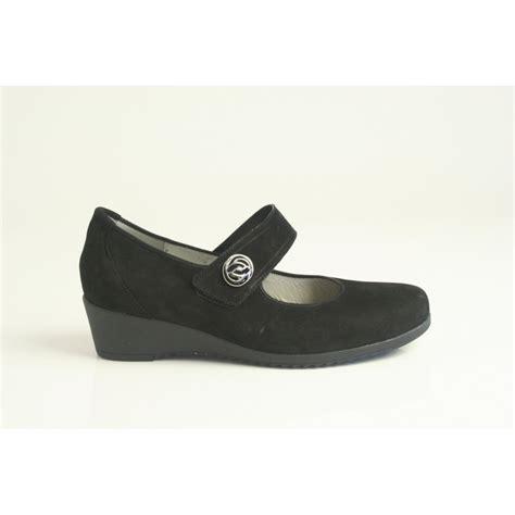 Sandal Wedges Motif Gc Waldlaufer Waldlaufer Style Quot Herdina Quot Black Nubuck Leather
