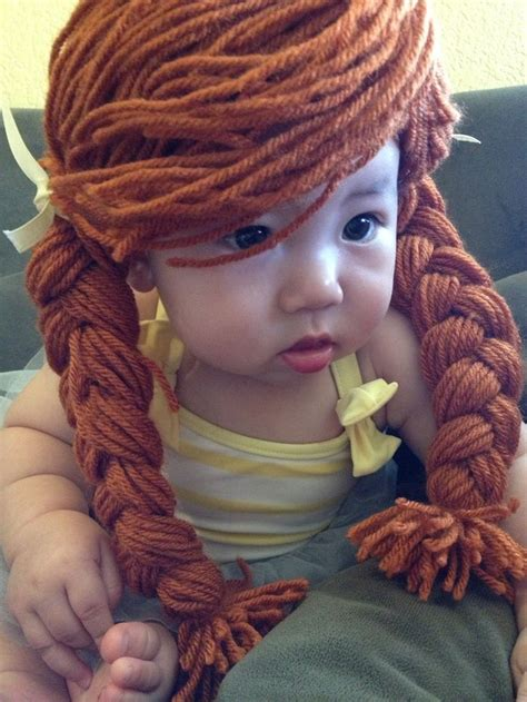 cabbage patch crochet wig pattern cabbage patch yarn wig with braided pigtails crochet