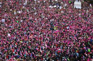 women s march women s march in dc vastly outdraws inauguration crowd