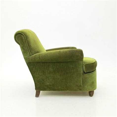 Green Velvet Armchair by Italian Mid Century Green Velvet Armchair 1940s At 1stdibs