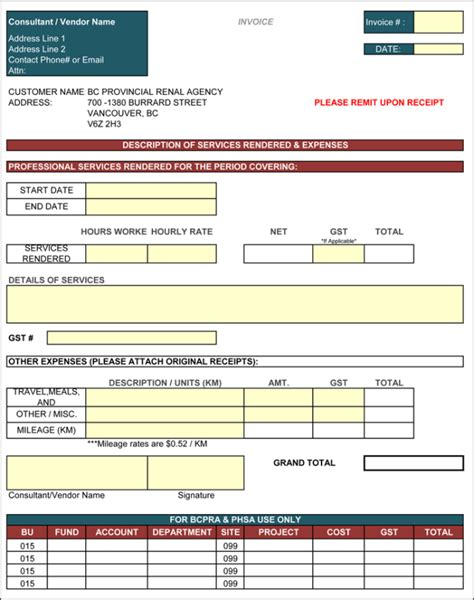 11 independent contractor invoice template invoice template