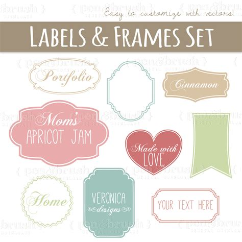label design photoshop tutorial clip art cute vector labels frames photoshop brushes