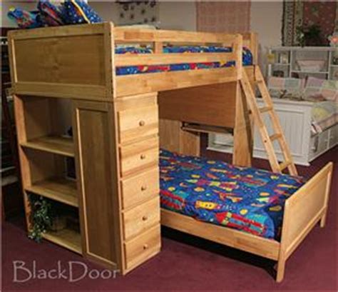 Wood Bunk Beds With Desk And Dresser by Solid Wood Bunk Bed Loft W Bookcase Desk Dresser