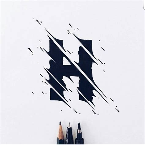 cool looking h by carlossiqueira on inspirationde