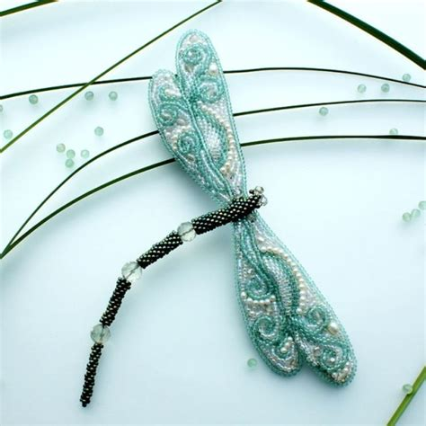 bead artwork by olga shumilova dragonfly