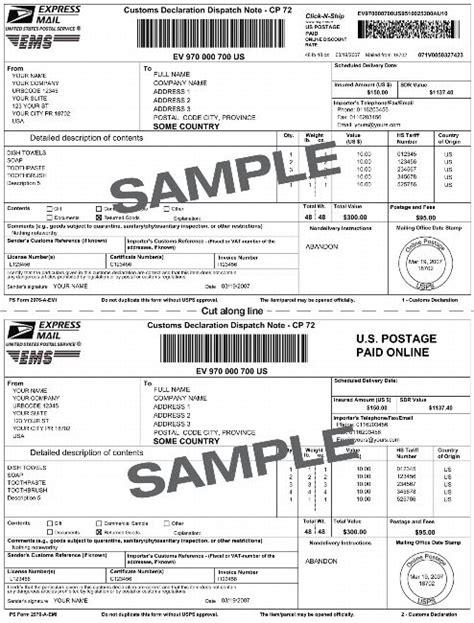 international shipping label template sle express mail international shipping label with