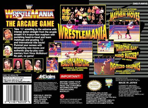 wwf wrestlemania  arcade game details launchbox