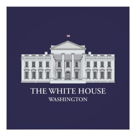 Can You Visit The White House With A Criminal Record The White House Architectural Print Zazzle