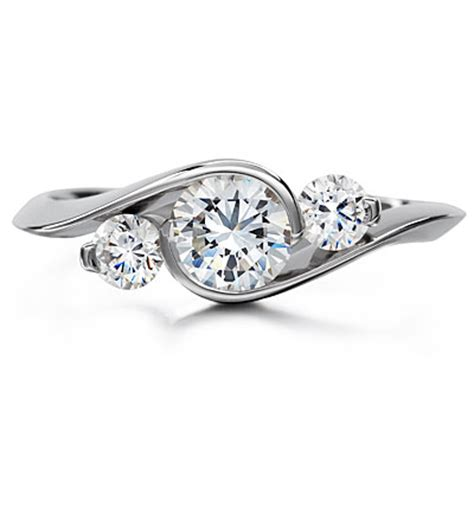 wedding ring tree design platinum three ring engagement ring platinum three
