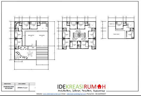 layout tempat kost desain layout denah kos eksklusif 3 lantai download pdf