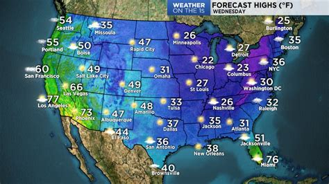 weather map of united states for tomorrow us weather map for tomorrow intellicast high temperatures