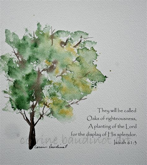 The Watercolour Flower Artist S Bible oak tree watercolor painting green gold and brown with bible