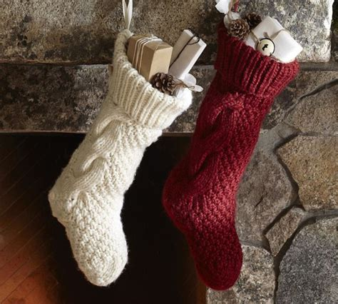 Charming Red Personalized Christmas Stockings #6: 5606-traditional-christmas-stockings-and-holders.jpg