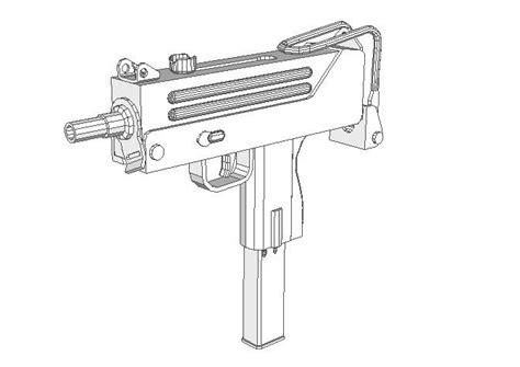 Papercraft Guns Templates - new paper craft size mac 10 machine pistol paper