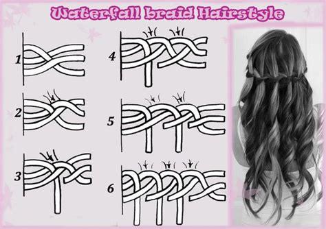 how to do a waterfall braid step by step on shprt hair 9 easy cute braid tutorial trusper