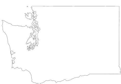 Blank Outline Map Of Washington State by Washington State Outline Map Free