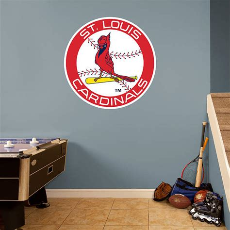 st louis cardinals classic logo fathead wall decal