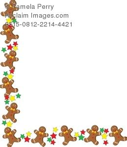 free printable gingerbread man border clip art illustration of a gingerbread man christmas border