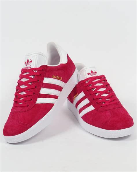 adidas gazelle pink adidas gazelle trainers pink white bold deep suede
