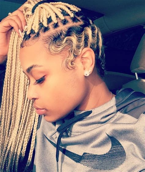 different styles of wrappin mohawk blonde box braids and finger waves hair pinterest